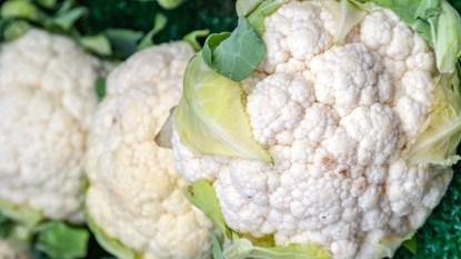 Cauliflower with brown spots