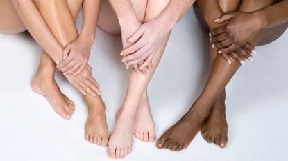 Bare legs of women