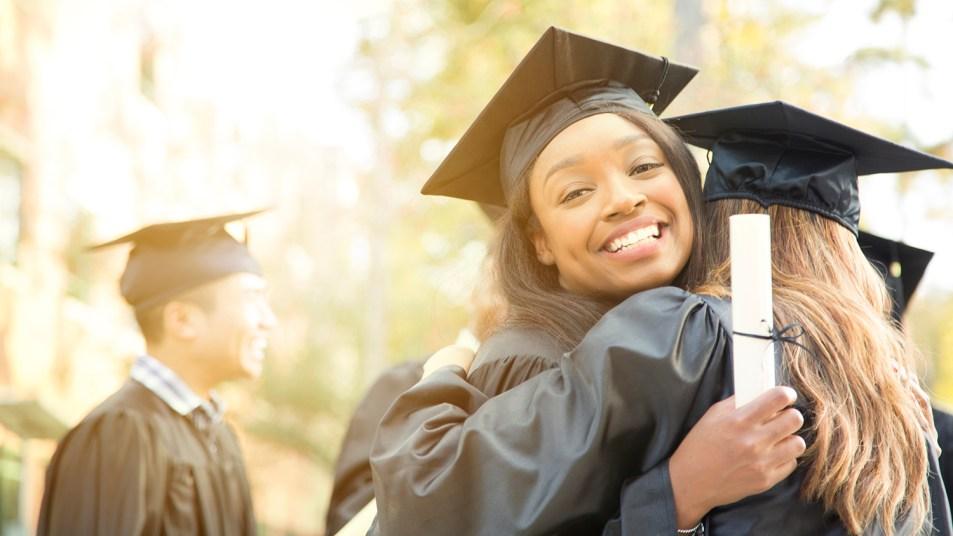 college grads embracing