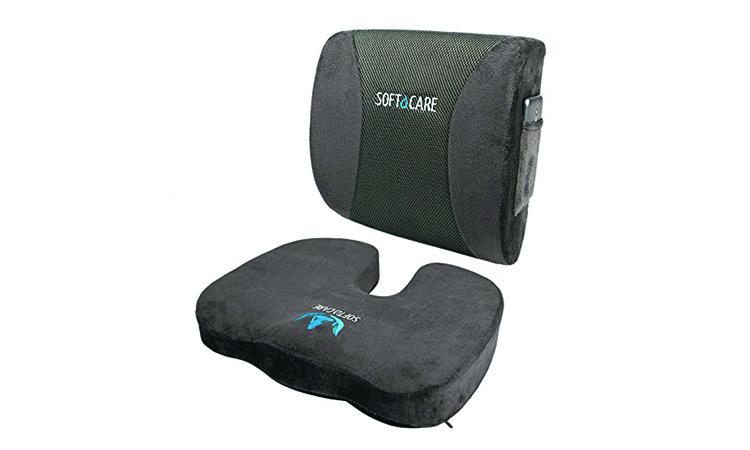SOFTaCARE Memory Foam Seat and Lumbar Cushion