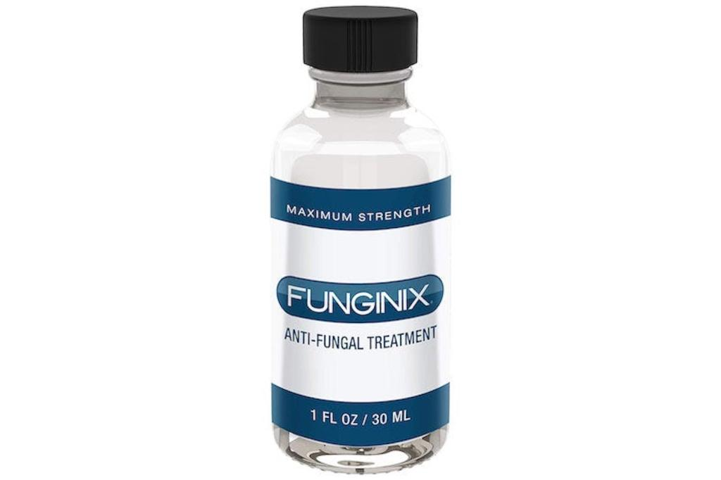 glass bottle of clear Funginix liquid