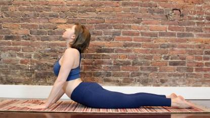 woman in cobra pose