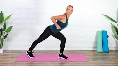 Denise Austin exercising