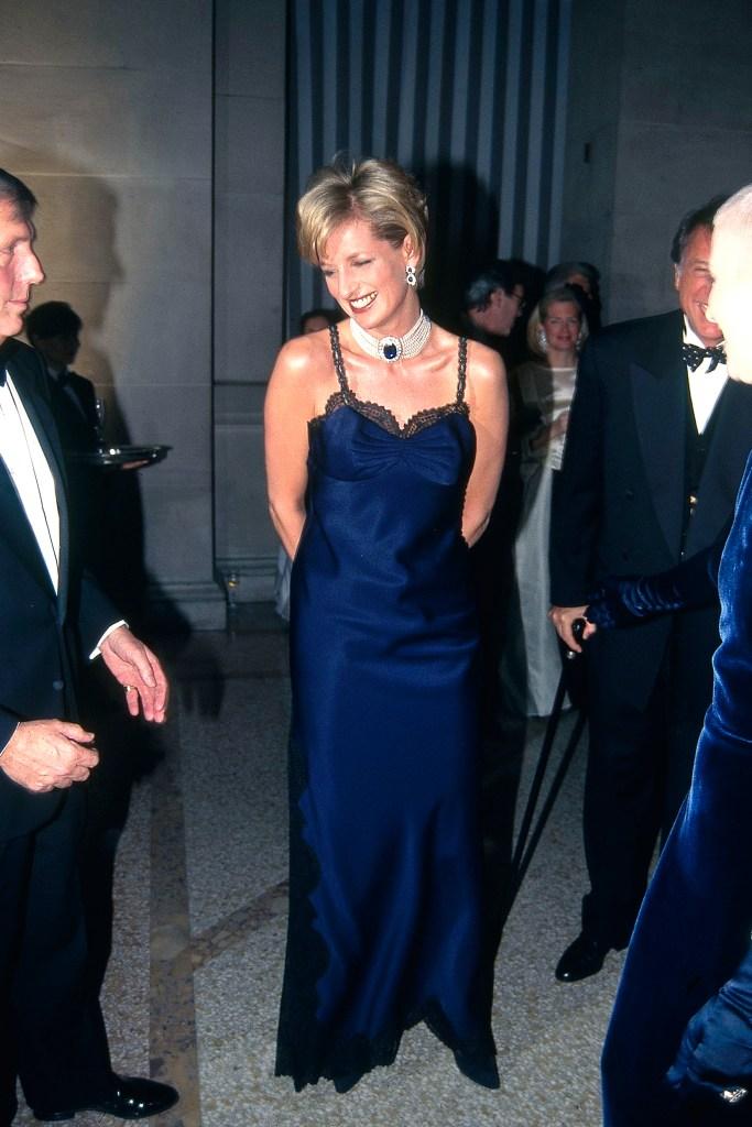 Princess Diana at Met Gala in 1996