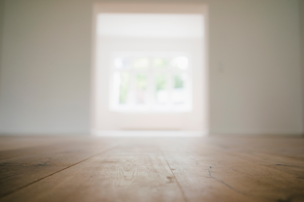Wooden floor in a newly refurbished house