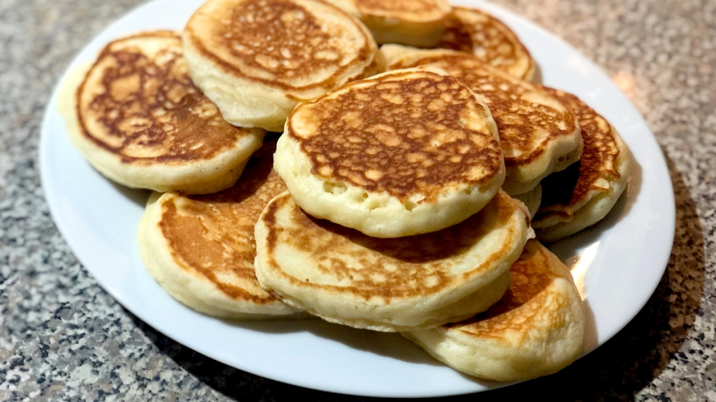 Pancakes on a plate