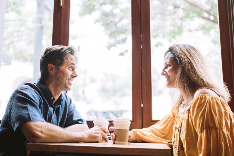 Couple at Coffee Shop