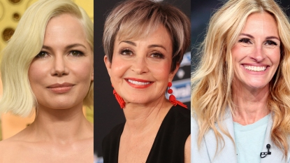 Collage of Michelle Williams, Annie Potts, and Julia Roberts