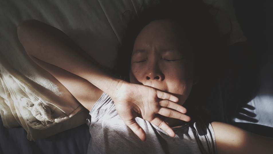sunshine on sleeping woman