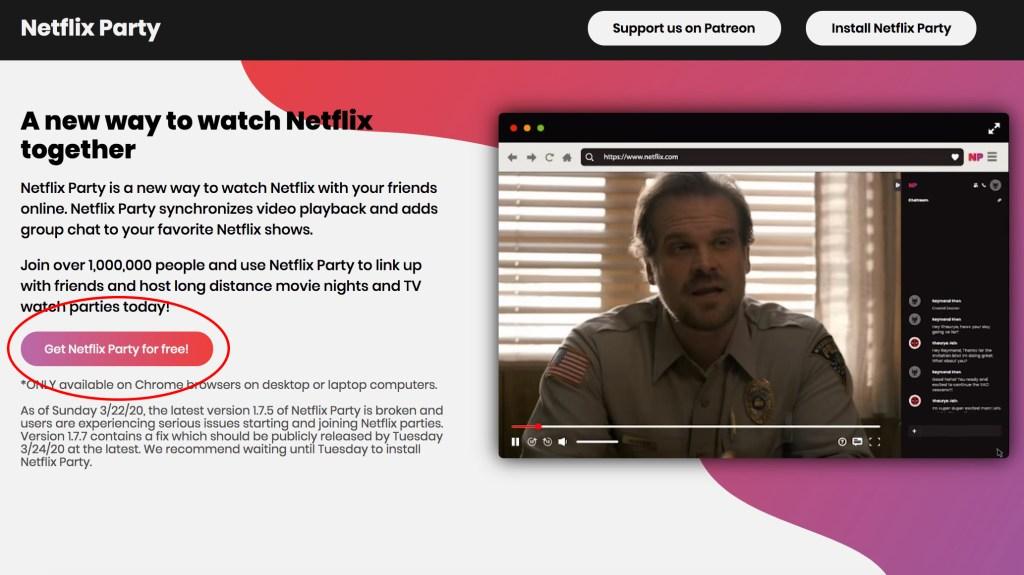 Netflix Party screenshot