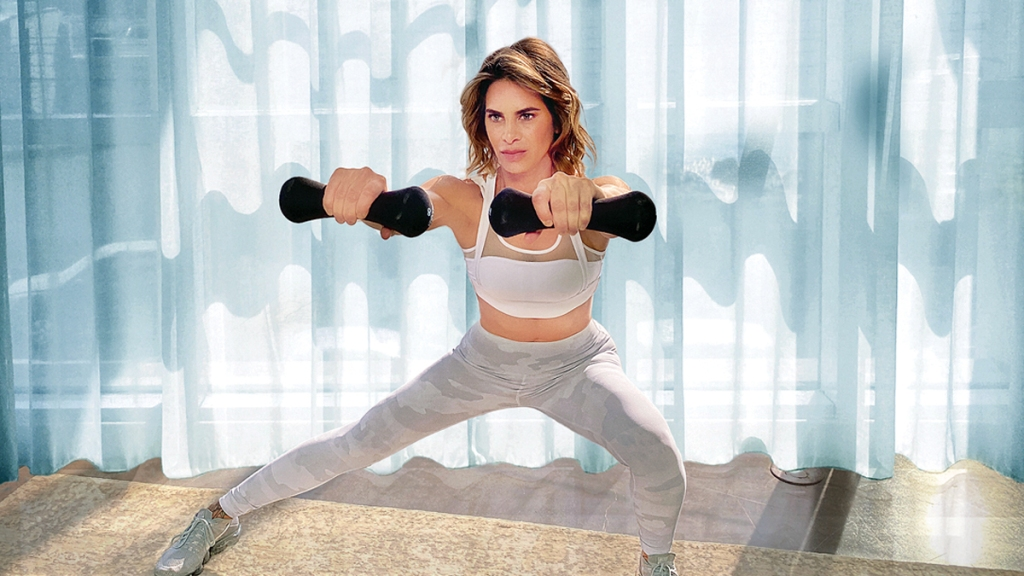 Jillian Michaels working out