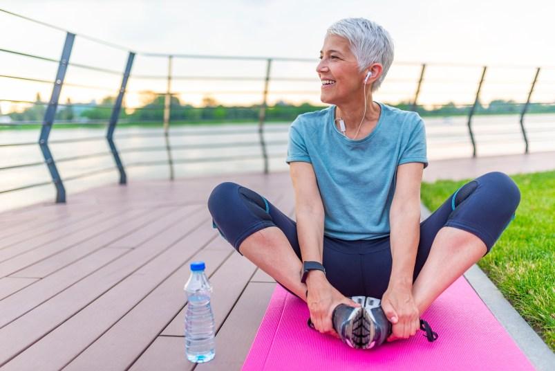 senior woman living a healthy lifestyle