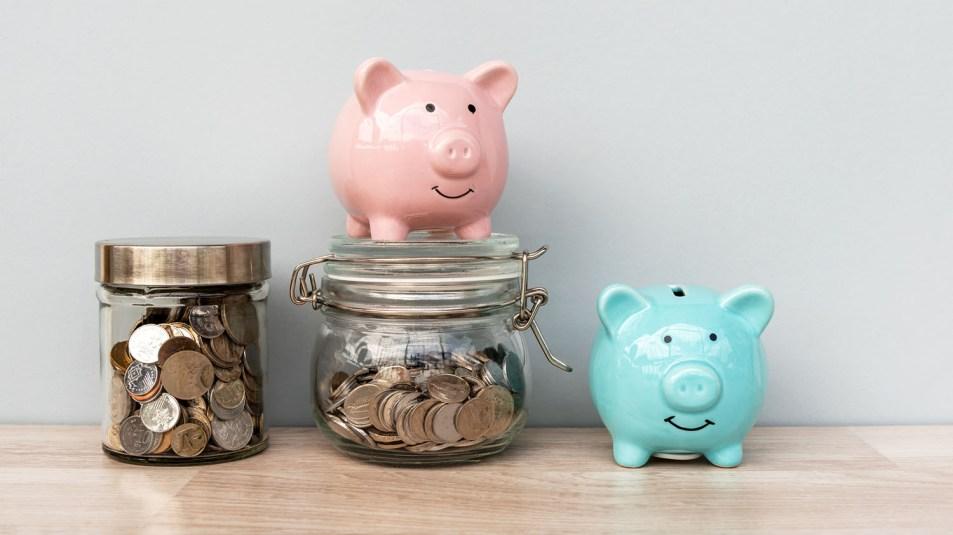 Piggy Bank and Coin Jar