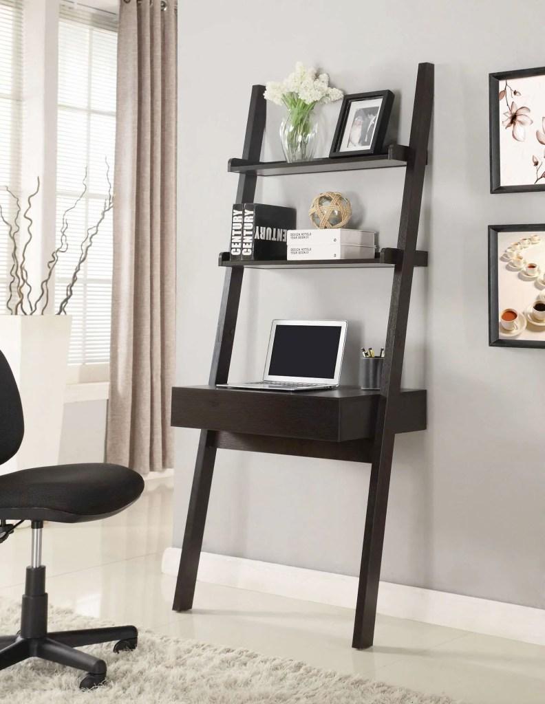 Vertical wall desk