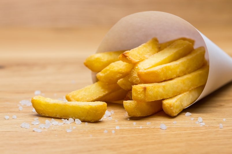 french fries cause wrinkles