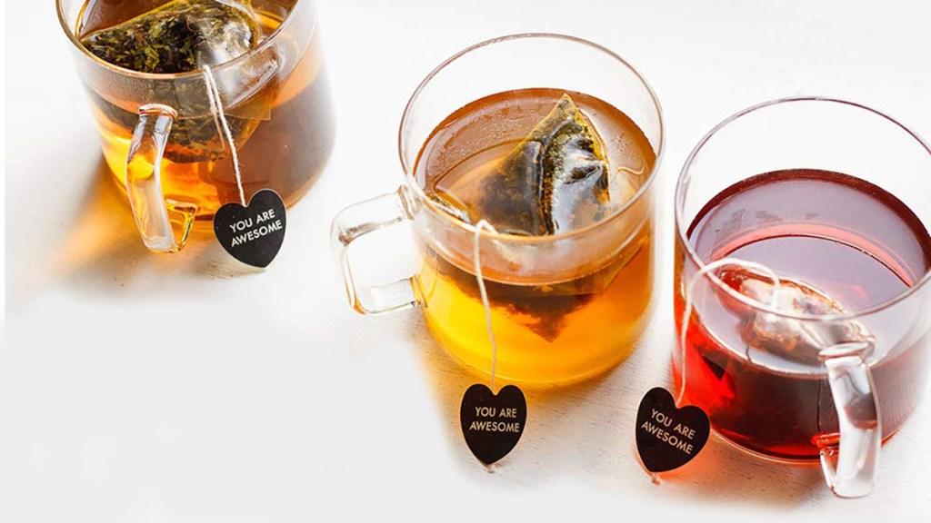big heart tea in mugs