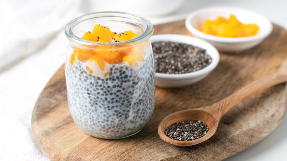 Yogurt with chia seeds