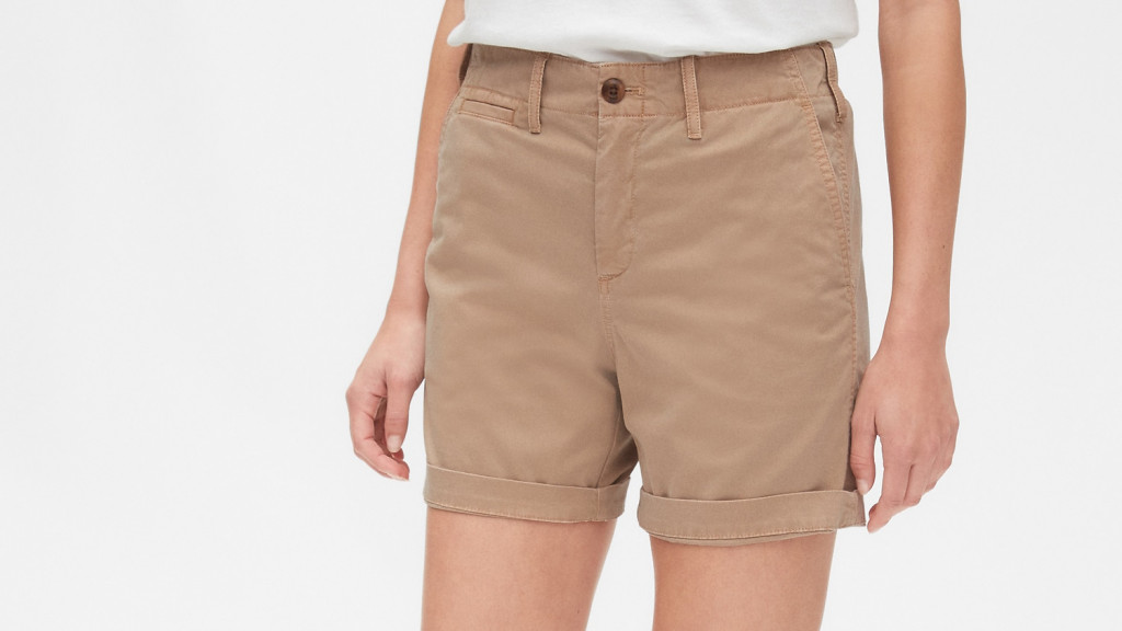 khaki shorts for women over 50