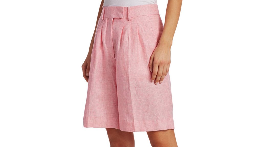 pink shorts for women over 50