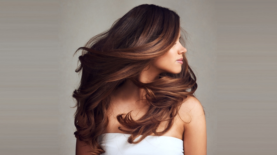 woman with shiny beautiful hair