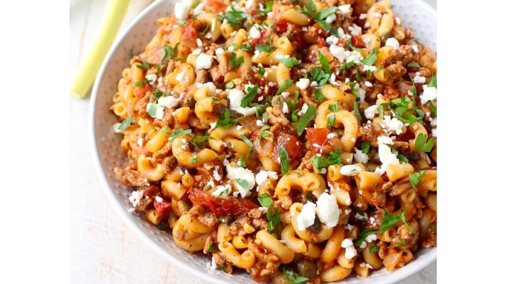 Bowl of Greek pasta