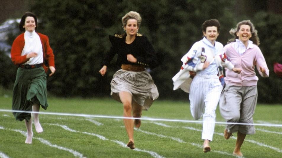 Princess Diana running