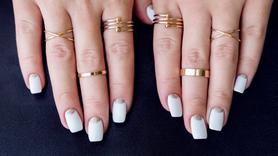 Woman's hands with rings