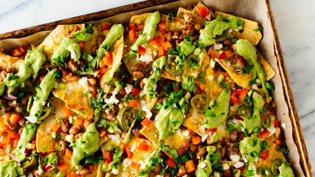 Sheet pan nachos