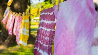 Clothing line with tie dyed items