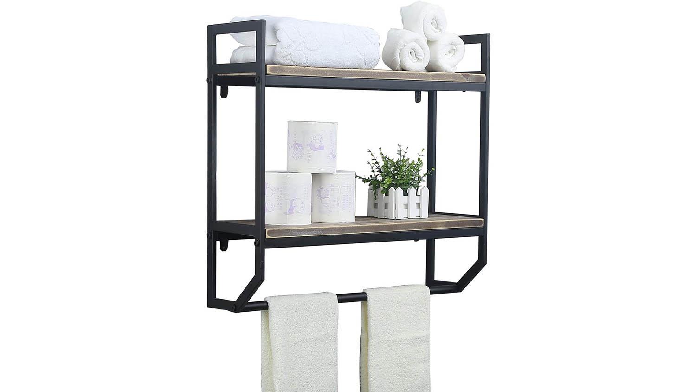 bathroom floating shelf