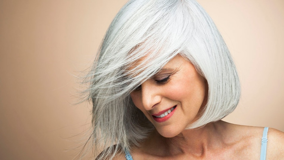 woman with pretty hair