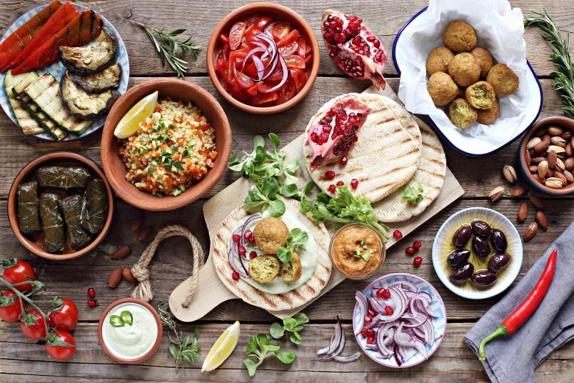 Table of Mediterranean food