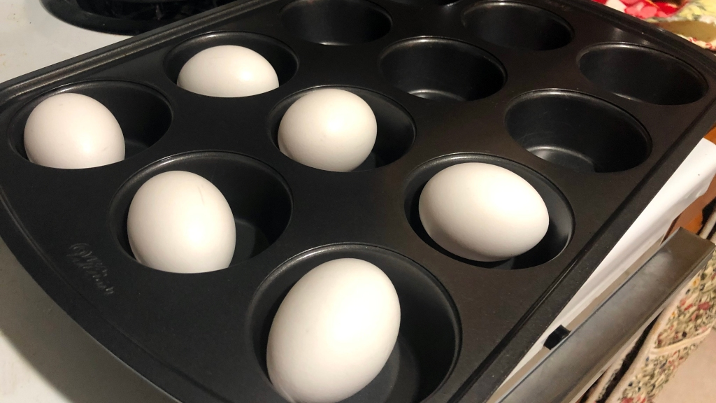 This image has an empty alt attribute; its file name is baked-hard-boiled-eggs-1.jpg