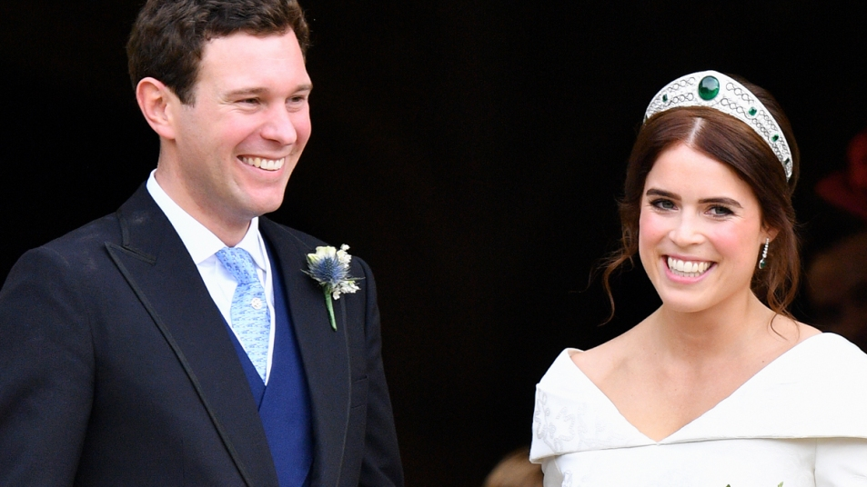 Princess Eugenie and Jack Brooksbanks on their wedding day