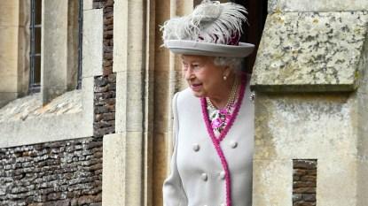Queen Elizabeth at Sandringham House