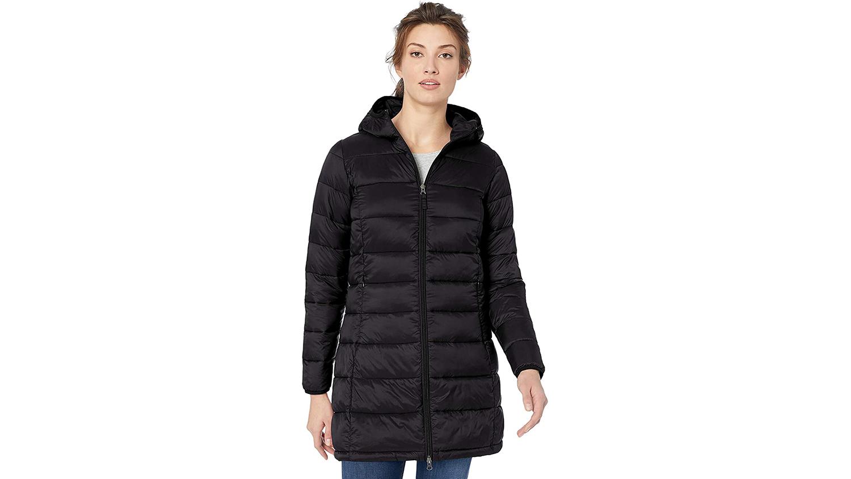 amazon essentials black winter coat