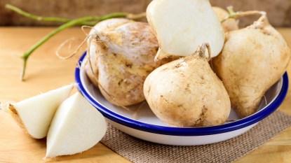 Jicama in a bowl