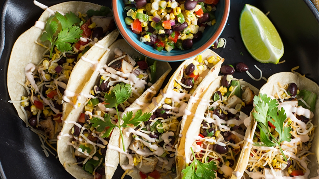 Mesquite chicken tacos