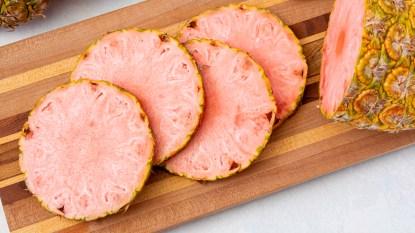 Sliced pinkglow pineapple