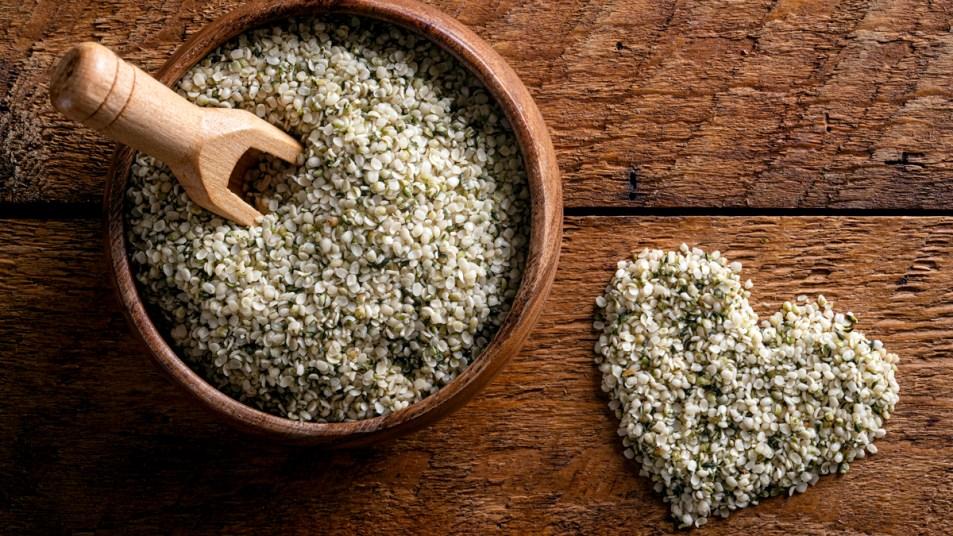 Bowl of hemp hearts