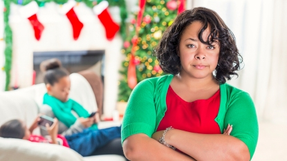 irritated mom who needs a holiday stress meditation