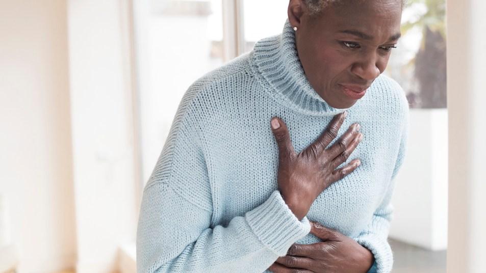 woman suffering from heartburn