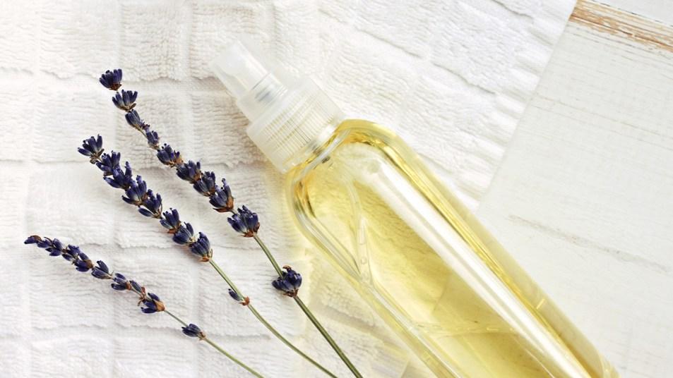DIY lavendar sleep spray