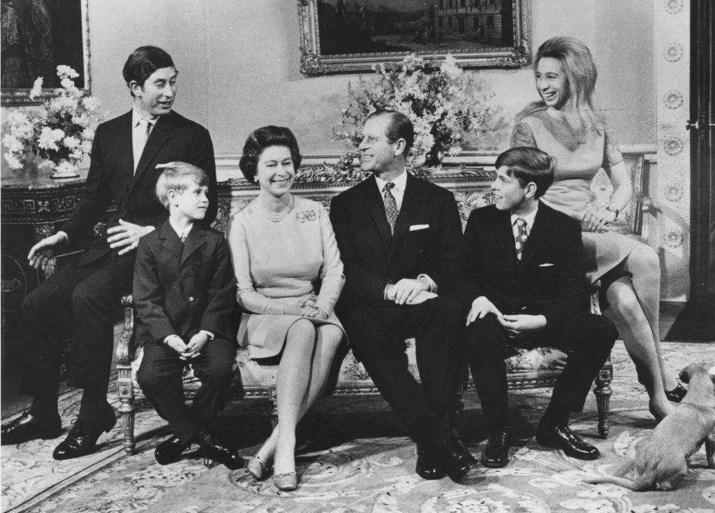 Queen Elizabeth with her family in 1972