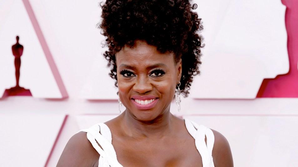 Viola Davis at 2021 Oscars ceremony