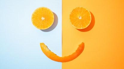 smiling orange peels