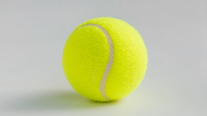 Tennis ball for household uses