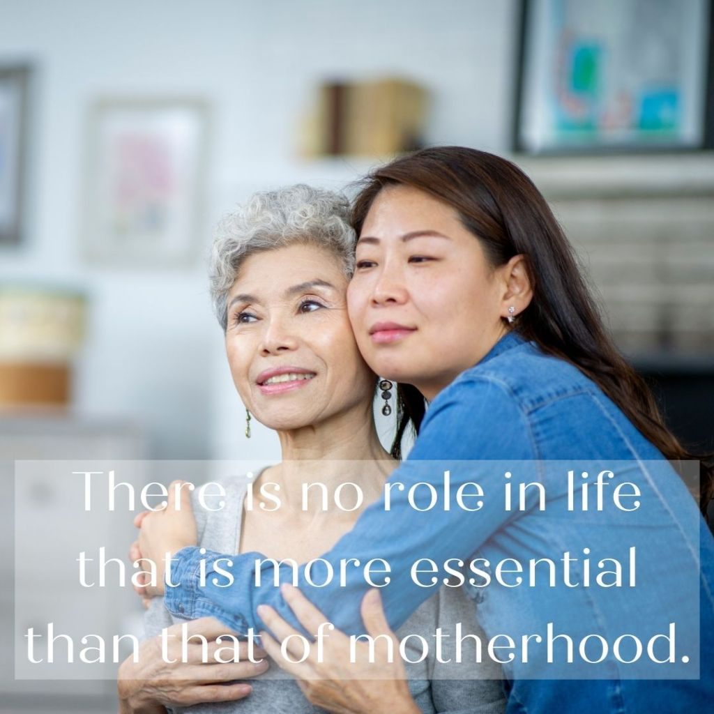 """""""There is no role in life that is more essential than that of motherhood."""" —Elder M. Russell Ballard"""